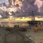 Los Muertos beach pier.