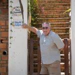 Bill at Evelyne Boren's home in Sayulita.